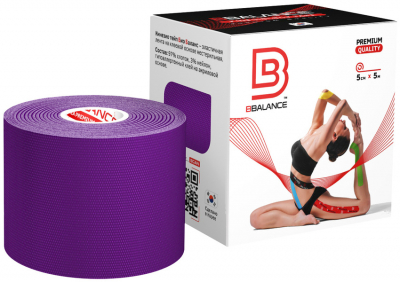 Кинезио тейп BBTape™ 5см × 5м фиолетовый