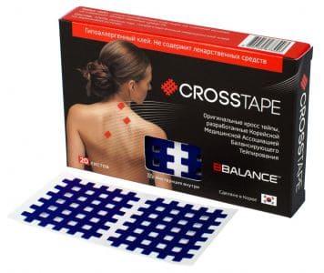 Кросс тейпы BB CROSS TAPE™ 4,9 см x 5,2 см (размер С) синий