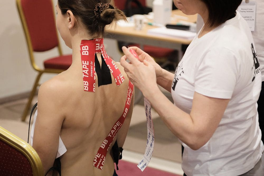 Тейпирование при остеохондрозе шеи Фото-1