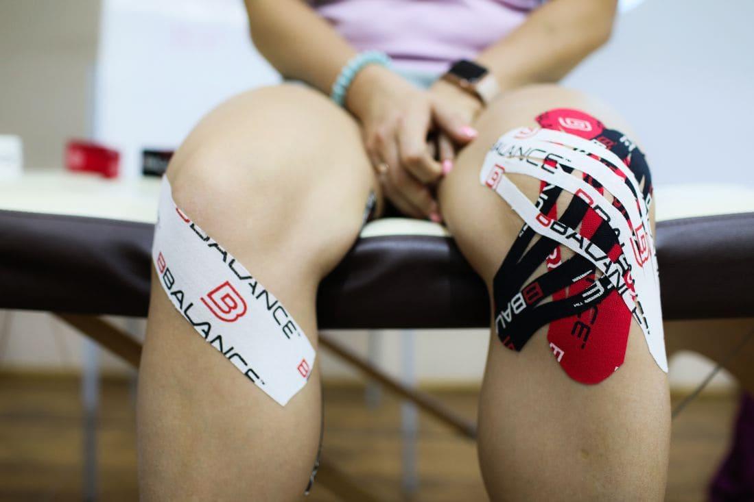 Тейпирование коленного сустава при артрозе схема Фото-6