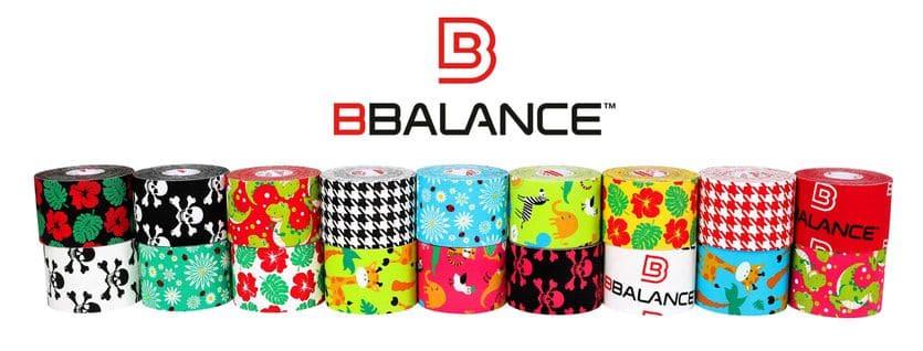 Дизайнерские кинезио тейпы разных цветов компании BBtape.