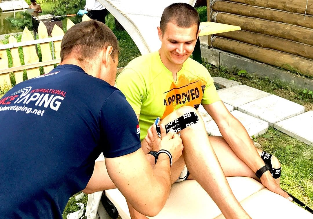 Тейпирование связок коленного сустава Фото-5