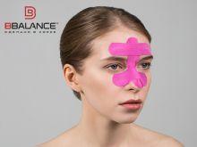 Набор кинезио тейпов для лица 2,5 см × 10 м шелк розовый Фото 2