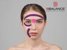 Набор кинезио тейпов для лица 2,5 см × 10 м шелк фиолетовый Фото 4