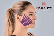 Набор кинезио тейпов для лица 2,5 см × 10 м шелк фиолетовый Фото 5