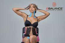 Перфорированный тейп для тела BB LYMPH TAPE™ 5 см × 5 м хлопок голубой Фото 4