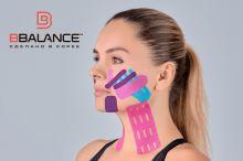Перфорированный тейп для лица BB LYMPH FACE™ 5 см × 5 м хлопок розовый Фото 5