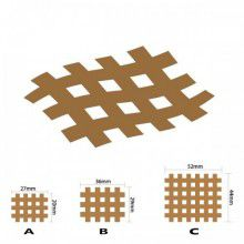 Кросс тейпы BB CROSS TAPE™ 4,9 см x 5,2 см (размер С) бежевый Фото 3