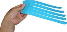 Кинезио тейп преднарезанный BB EDEMA STRIP МАХ 10 cм x 25 см голубой Фото 2