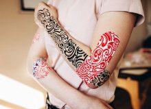 Кинезио тейп BBTape™ 5см × 5м тату красный Фото 4