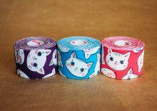 Кинезио тейп BBTape™ 5см × 5м котята голубой Фото 4