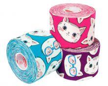 Кинезио тейп BBTape™ 5см × 5м котята фиолетовый Фото 2