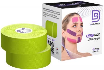 Набор кинезио тейпов для лица BB FACE TAPE™ 2,5 см × 10 м лайм