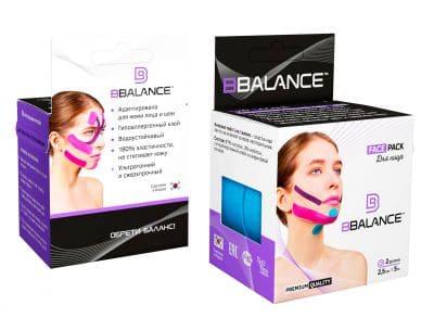 Набор кинезио тейпов для лица BB FACE TAPE™ 2,5 см × 10 м голубой