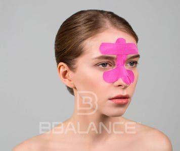 Инструкция по применению тейпа для лица при заложенности носа, насморке и синусите