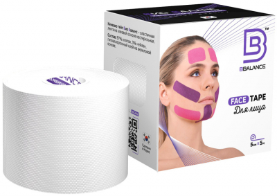 Тейп для лица BB FACE TAPE™ 5 см × 5 м белый