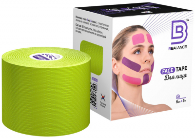 Тейп для лица BB FACE TAPE™ 5 см × 5 м хлопок лайм