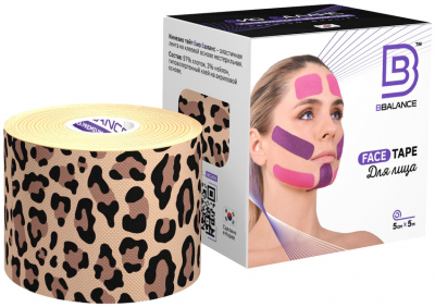 Тейп для лица BB FACE TAPE™ 5 см × 5 м хлопок леопард