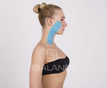 Инструкция по применению перфорированных тейпов BB LYMPH FACE™ для снятия отека с лица в целом