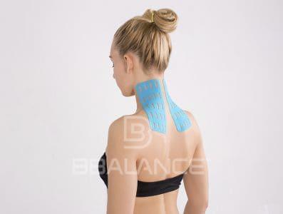 Инструкция по применению перфорированных тейпов BB LYMPH TAPE™ для шеи (восстановление питания, тонуса)