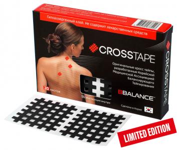 Кросс тейпы BB CROSS TAPE™ 4,9 см x 5,2 см (размер С) черный Фото 1