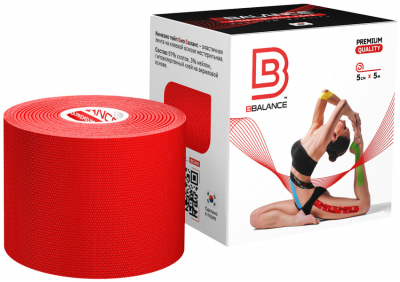 Кинезио тейп BBTape™ 5см × 5м красный