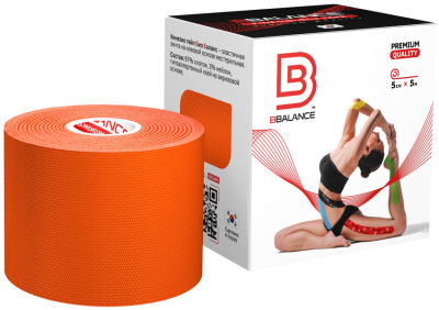 Кинезио тейп BBTape™ 5см × 5м оранжевый