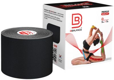 Кинезио тейп BBTape™ 5см × 5м чёрный