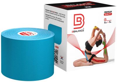 Кинезио тейп BBTape™ 5см × 5м голубой