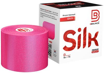 Кинезио тейп BBTape™ SILK 5см × 5м розовый