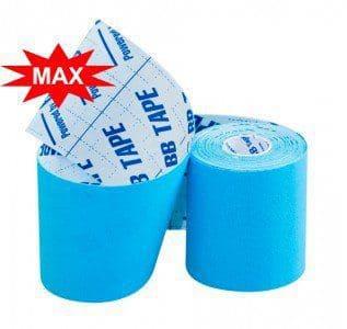 Кинезио тейп BBTape™ МАХ 7,5см × 5м голубой